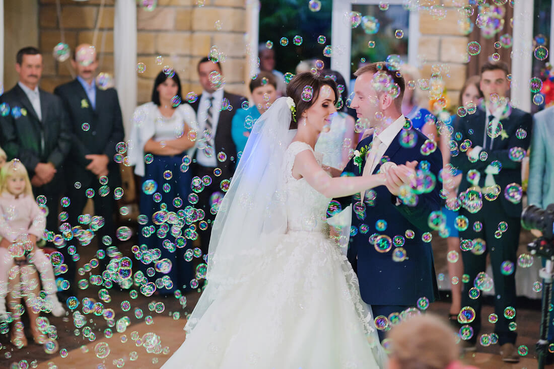 Bańki mydlane na wesele